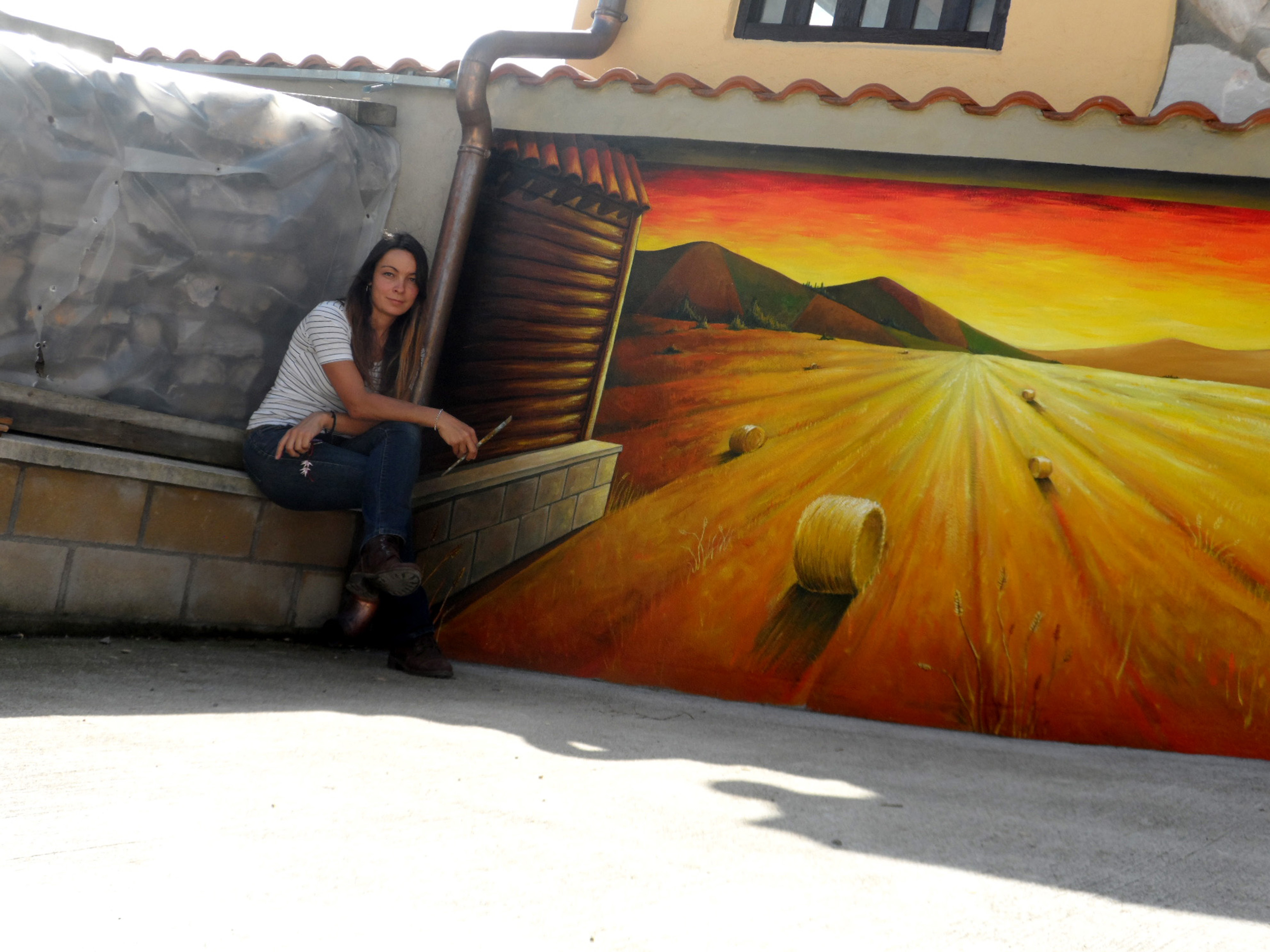 mural paisaje trampantojo